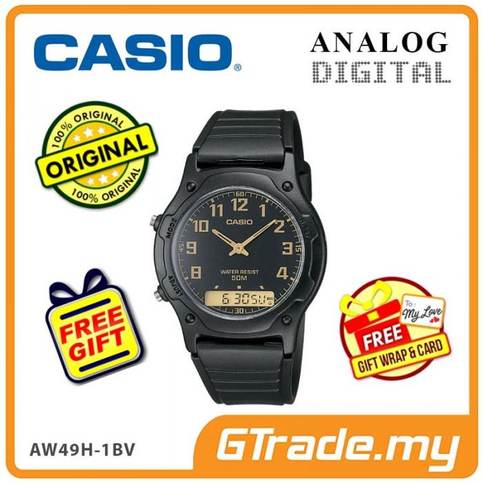 1c71acf55 CASIO STANDARD AW-49H-1BV Analog Digital Watch   Classic Dual Time
