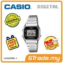 [READY STOCK] CASIO STANDARD LA680WA-1 Digital Ladies Watch | Retro New Color Alarm