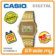 CASIO STANDARD A159WGEA-9 Digital Watch   Vintage Alarm Auto Calendar [PRE]