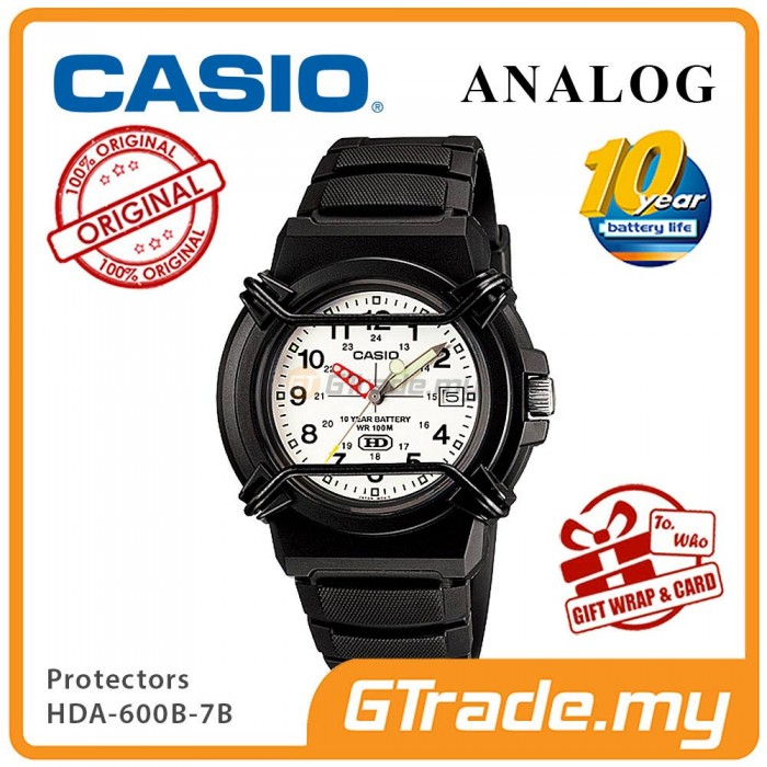 CASIO WIRE PROTECTOR HDA-600B-7B Analog Mens Watch | Date