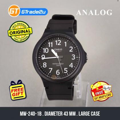 [READY STOCK] CASIO ANALOG MW-240-1BV Mens Watch   Large Case 50m Resist