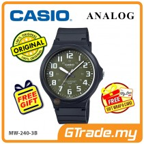 CASIO ANALOG MW-240-3BV Mens Watch | Large Case 50m Resist