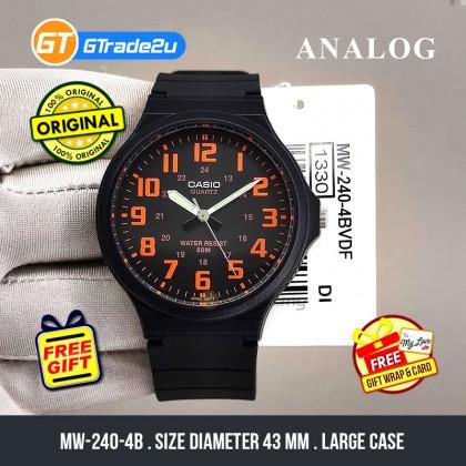 [READY STOCK] CASIO ANALOG MW-240-4BV Mens Watch | Large Case 50m Resist