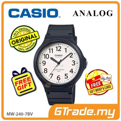 [READY STOCK] CASIO ANALOG MW-240-7BV Mens Watch | Large Case 50m Resist