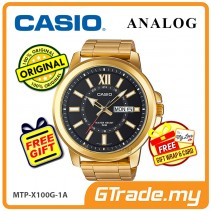 CASIO ANALOG MTP-X100G-1AV Mens Watch | Gold Ion Plate Large Case [PRE]