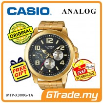 CASIO ANALOG MTP-X300G-1AV Mens Watch | Gold Ion Plate Large Case [PRE]