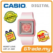 [READY STOCK] CASIO POPTONE LDF-21-4AV Kids / Ladies Digital Watch | Cute Color