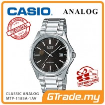 [READY STOCK] CASIO CLASSIC ANALOG MTP-1183A-1AV Men Watch | Date Display Steel Band