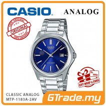 [READY STOCK] CASIO CLASSIC ANALOG MTP-1183A-2AV Men Watch | Date Display Steel Band