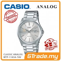[READY STOCK] CASIO CLASSIC ANALOG MTP-1183A-7AV Men Watch | Date Display Steel Band