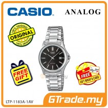 [READY STOCK] CASIO CLASSIC ANALOG LTP-1183A-1AV Ladies Watch | Date Display Steel