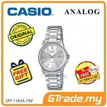 [READY STOCK] CASIO CLASSIC ANALOG LTP-1183A-7AV Ladies Watch | Date Display Steel