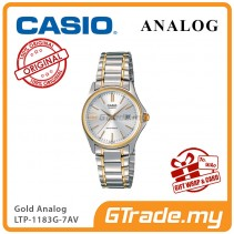 CASIO CLASSIC ANALOG LTP-1183G-7AV Ladies Watch | Date Display Steel [PRE]