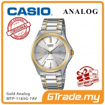CASIO CLASSIC ANALOG MTP-1183G-7AV Men Watch | Date Display Gold Steel [PRE]