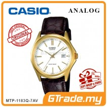 CASIO CLASSIC ANALOG MTP-1183Q-7AV Men Watch | Date Display Leather
