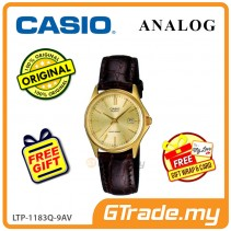 [READY STOCK] CASIO CLASSIC ANALOG LTP-1183Q-9AV Ladies Watch | Date Display Leather