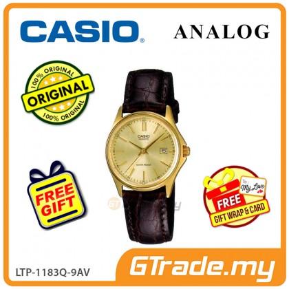 [READY STOCK] CASIO CLASSIC ANALOG LTP-1183Q-9AV Ladies Watch | Date Display Leather
