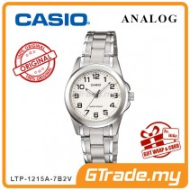[READY STOCK] CASIO CLASSIC ANALOG LTP-1215A-7B2V Ladies Watch | Steel Date Display