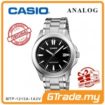 [READY STOCK] CASIO CLASSIC ANALOG MTP-1215A-1A2V Men Watch | Steel Date Display