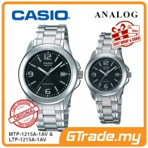 CASIO ANALOG MTP-1215A-1AV & LTP-1215A-1AV Analog Couple Watch