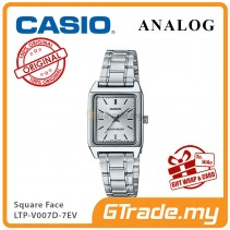 CASIO ANALOG LTP-V007D-7EV Ladies Watch | Square Face Steel Band [PRE]