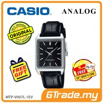 CASIO ANALOG MTP-V007L-1EV Men Watch | Square Face Leather Band [PRE]