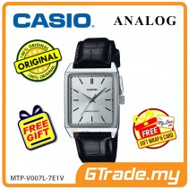 CASIO ANALOG MTP-V007L-7E1V Men Watch | Square Face Leather Band [PRE]