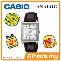 CASIO ANALOG MTP-V007L-7E2V Men Watch | Square Face Leather Band [PRE]