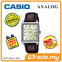 CASIO ANALOG MTP-V007L-9EV Men Watch | Square Face Leather Band [PRE]