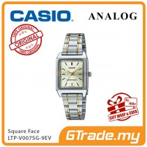 CASIO ANALOG LTP-V007SG-9EV Ladies Watch | Square Face Gold Band [PRE]