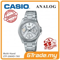 CASIO MULTI-HANDS LTP-2089D-7AV Ladies Watch | 50 Meter Water Resist [PRE]