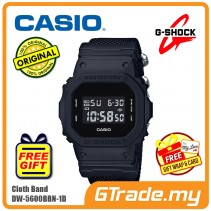 CASIO G-SHOCK DW-5600BBN-1D Digital Watch | Matte Black Cordura Band