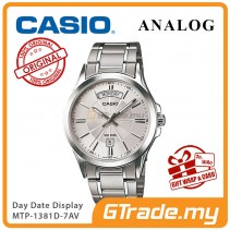 CASIO ANALOG MTP-1381D-7AV Men Watch | Day Date 50 Meter Water Resist [PRE]