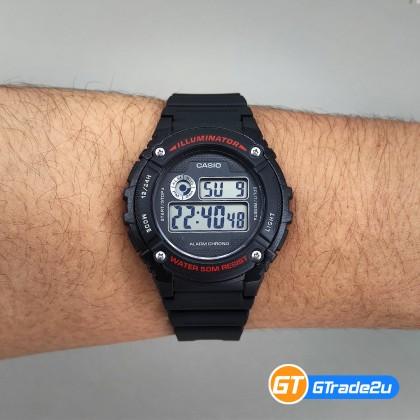 Casio Standard Men W-216H-1A W216H-1A Digital Watch Blue Black Resin Band watch for man . jam tangan lelaki . casio watch for men . casio watch . men watch . watch for men [READY STOCK]