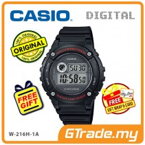 CASIO DIGITAL W-216H-1AV Watch | Alarm 50 Meter Water Resist [PRE]