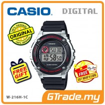 [READY STOCK] CASIO DIGITAL W-216H-1CV Watch | Alarm 50 Meter Water Resist