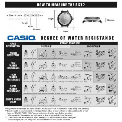 CASIO DIGITAL W-216H-1CV Watch | Alarm 50 Meter Water Resist