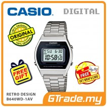 [READY STOCK] CASIO DIGITAL B640WD-1AV Men/Ladies Digital Watch | Retro Design 50WR