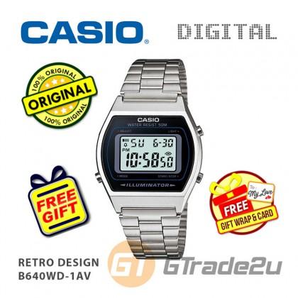[READY STOCK] CASIO DIGITAL B640WD-1AV Men/Ladies Digital Watch | Retro Design 50WR