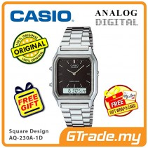 [READY STOCK] CASIO ANALOG DIGITAL Watch AQ-230A-1D | Square Design Dual Time