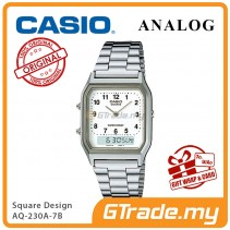 [READY STOCK] CASIO ANALOG DIGITAL Watch AQ-230A-7B | Square Design Dual Time
