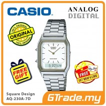 [READY STOCK] CASIO ANALOG DIGITAL Watch AQ-230A-7D | Square Design Dual Time