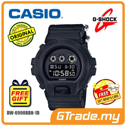 CASIO G-SHOCK DW-6900BBN-1D Digital Watch | Cordura Band Matte Black [PRE]