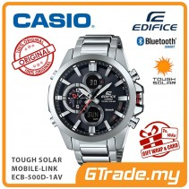 CASIO EDIFICE ECB-500D-1AV Bluetooth Watch Solar Dual Dial World Time