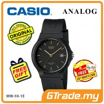 [READY STOCK] CASIO ANALOG MW-59-1EV Mens Watch | Date Display 50m Resist