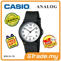 [READY STOCK] CASIO ANALOG MW-59-7BV Mens Watch | Date Display 50m Resist