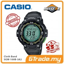 CASIO OUTGEAR SGW-100B-3A2V Sport Gear Watch | Compass Thermo.