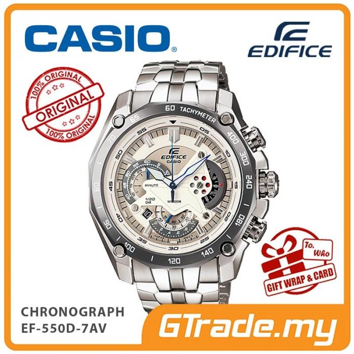 CASIO EDIFICE EF-550D-7AV Chronograph Watch  bb3dfb0b85