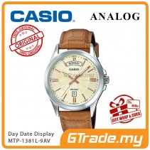 [READY STOCK] CASIO ANALOG MTP-1381L-9AV Men Watch | Day Date 50 Meter Water Resist