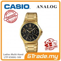 CASIO LADIES LTP-V300G-1AV Analog Watch | Multi-Hand Water Resistant [PRE]